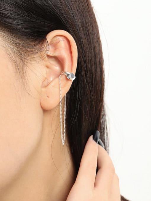 DAKA 925 Sterling Silver Tassel Minimalist Threader Earring [Single] 3